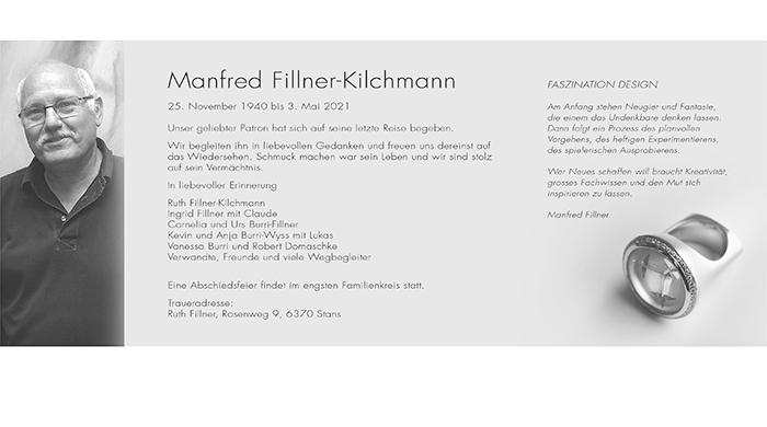 Mit Manfred Fillner-Kilchmann verliert die Branche eines ihrer Urgesteine.